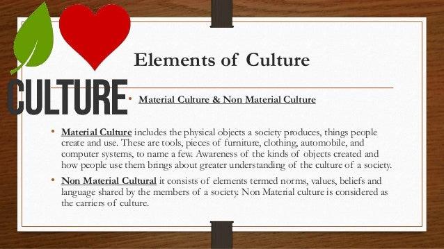 Elements Of Culture  E2 80 A2 Material