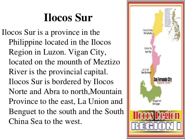 The FACTS About ILOCOS REGION - Facts about the west region