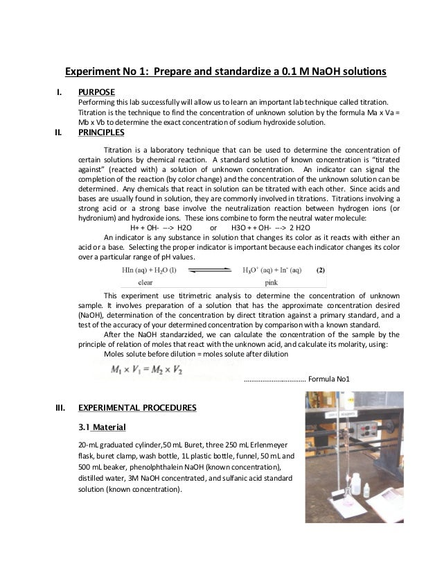preparing standard solution of sodium hydroxide Preparation of naoh solution up vote 1 down vote favorite how would one prepare a one molar sodium hydroxide solution standard solution and extracted solution.