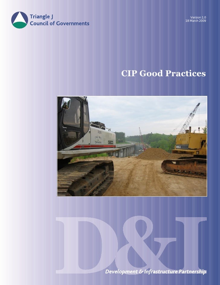 Version 1.0              18 March 2009     CIP Good Practices