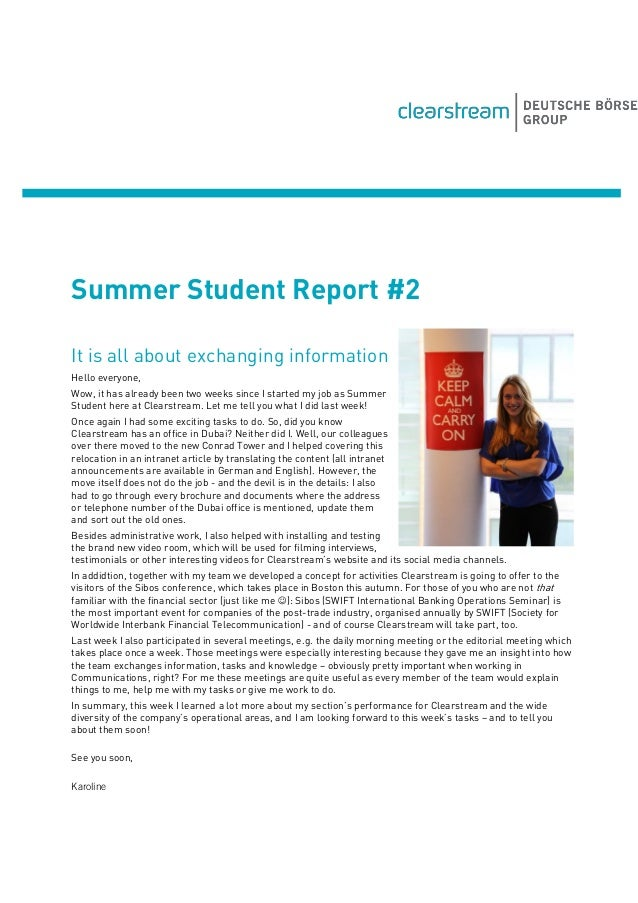 Summer Student Report #2 It is all about exchanging information Hello everyone, Wow, it has already been two weeks since I...