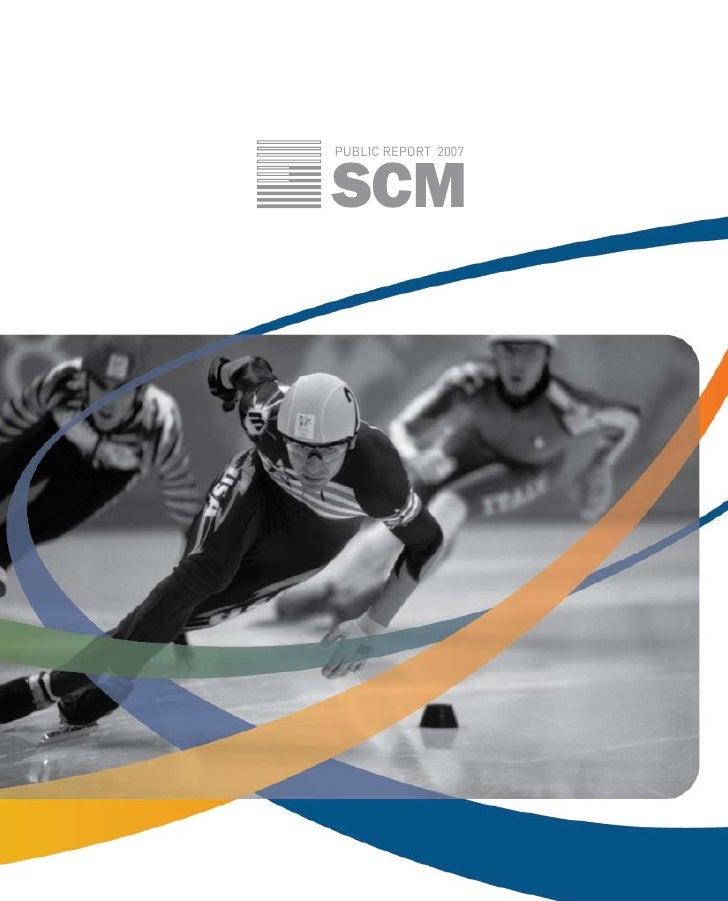 SCM PUBLIC REPORT 2007