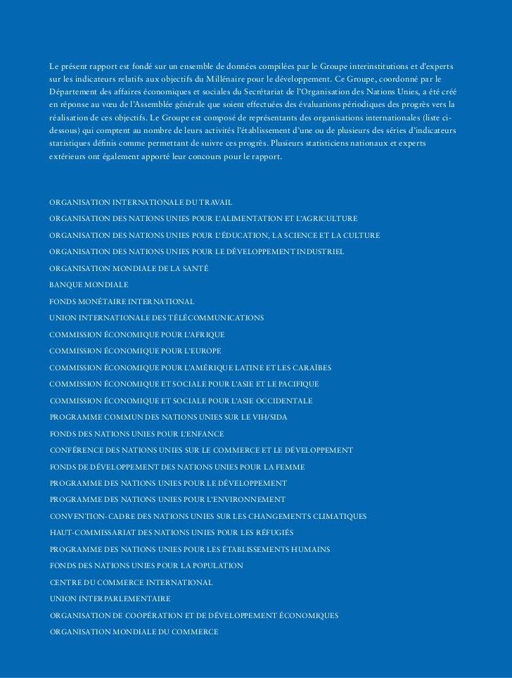 Objectifs du Millénaire pour le Développement - Rapport 2011 Nations Unies Slide 2
