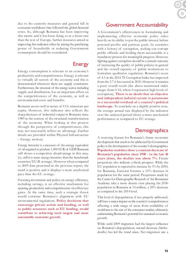 AmCham Romania Competitiveness Report, 2016 Edition