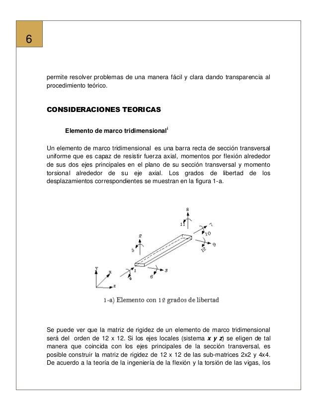 Analisis de marcos en 3D usando mathcad(c)