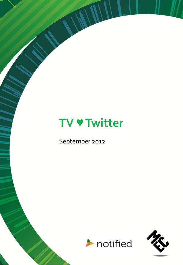 TV ♥ TwitterSeptember 2012