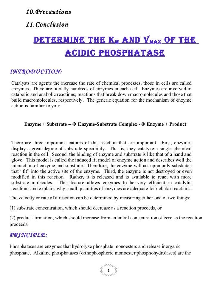 literature value of km for alkaline phosphatase