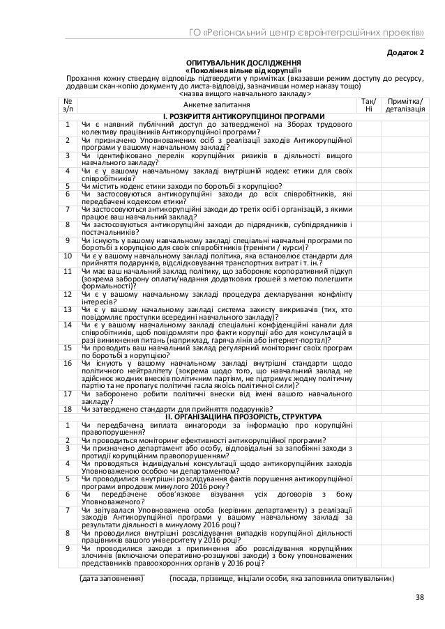 Індекс прозорості антикорупційної політики ЗВО України – 2017