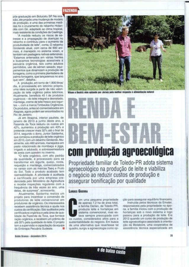 .Rio de Janeiro.   wviiciurg*  pós-graduação em Botucatu SP.  Na oca- 1 sião,  ele propôs uma mudança de modelo de produçã...