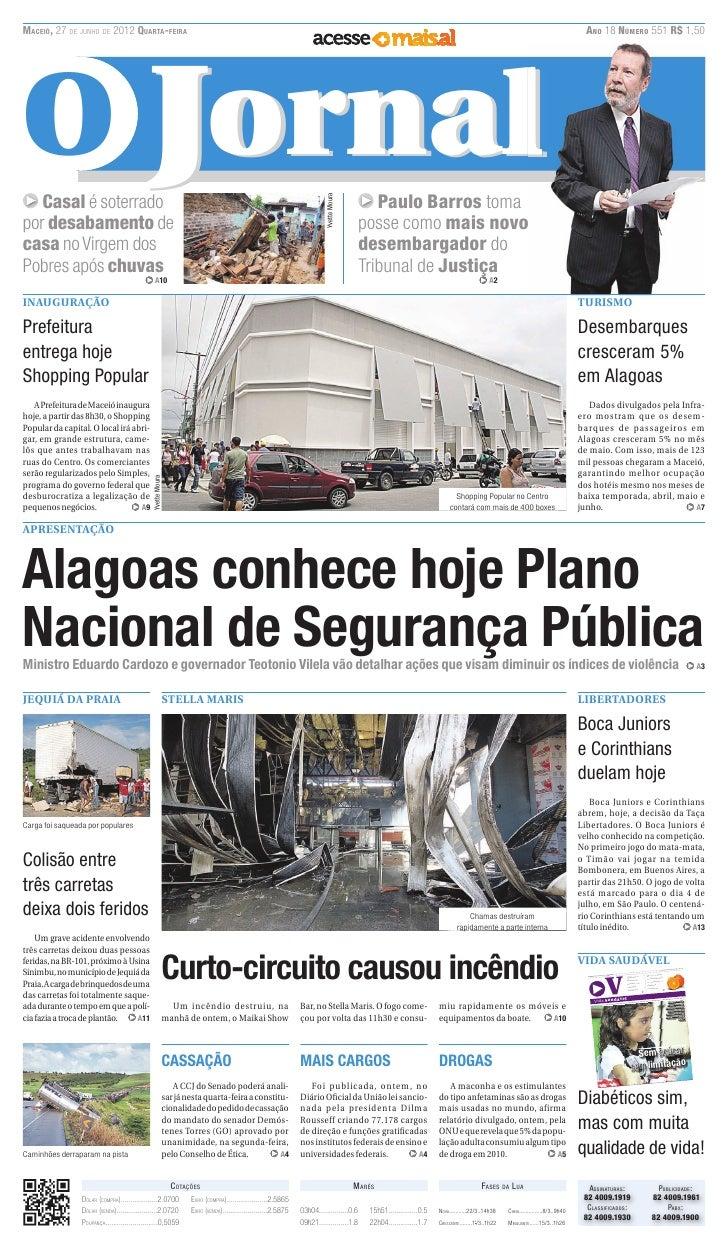 MACEIÓ, 27 DE JUNHO DE 2012 QUARTA-FEIRA                                                                                  ...