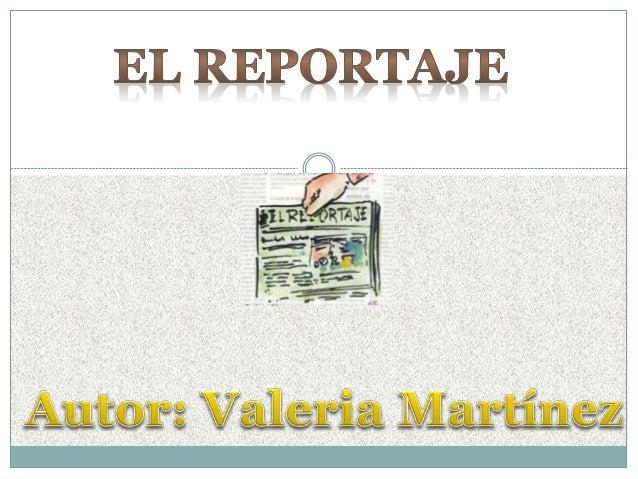 Ejemplo De Un Reportaje