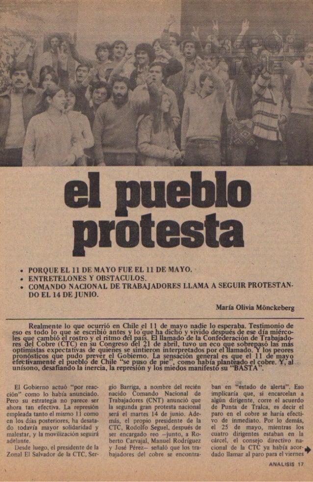 REPORTAJE: El Pueblo Protesta: ANALISIS Nº58 Junio 1983