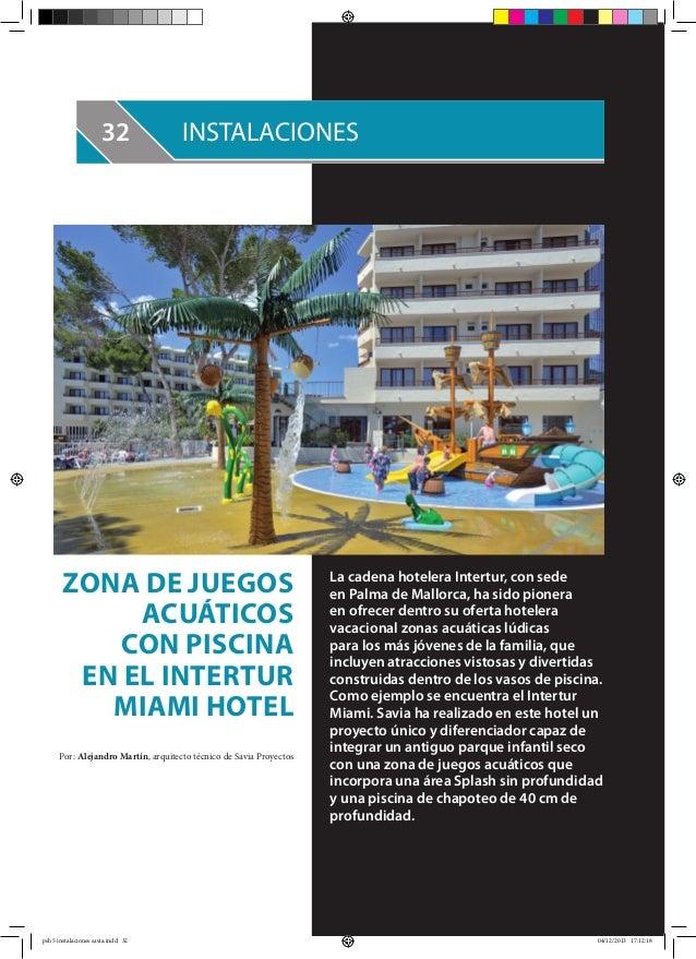 Reportaje revista piscinas hoy for Piscinas j martin caro