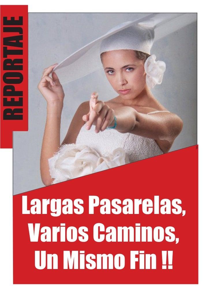 REPORTAJE                          jj      Largas Pasarelas,       Varios Caminos,       Un Mismo Fin !!