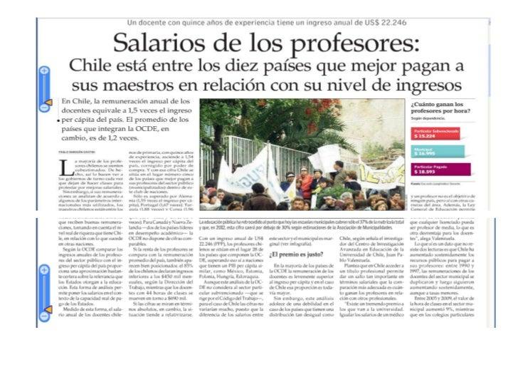 Reportaje salario profesores