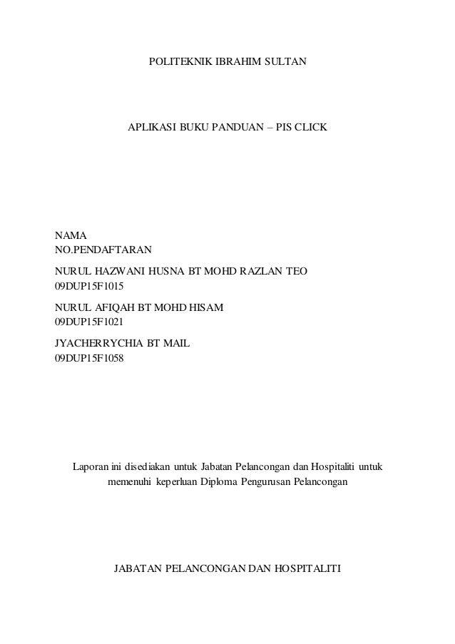 Report Final Projek Pelancongan Dan Hospitaliti