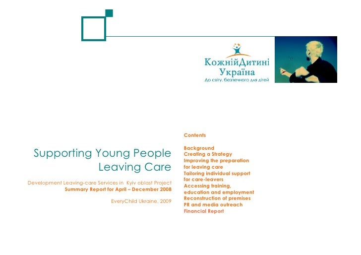 Contents                                                             Background   Supporting Young People                 ...