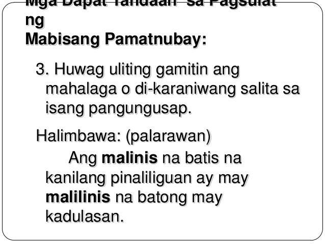 Tagalog/Pangungusap