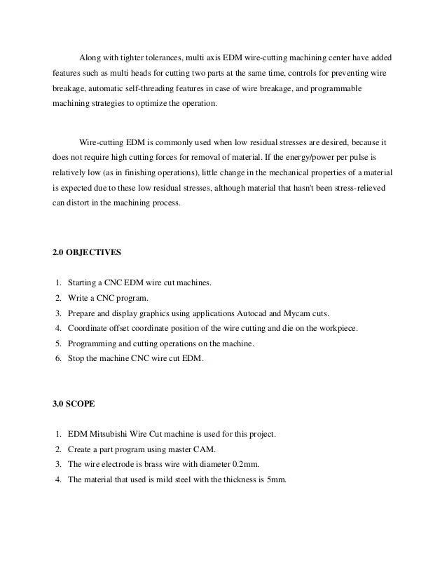 Wire Edm Programming | Edm Wirecut Report
