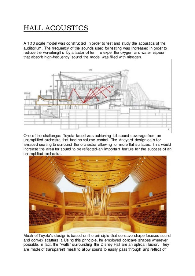 auditorium acoustics event study