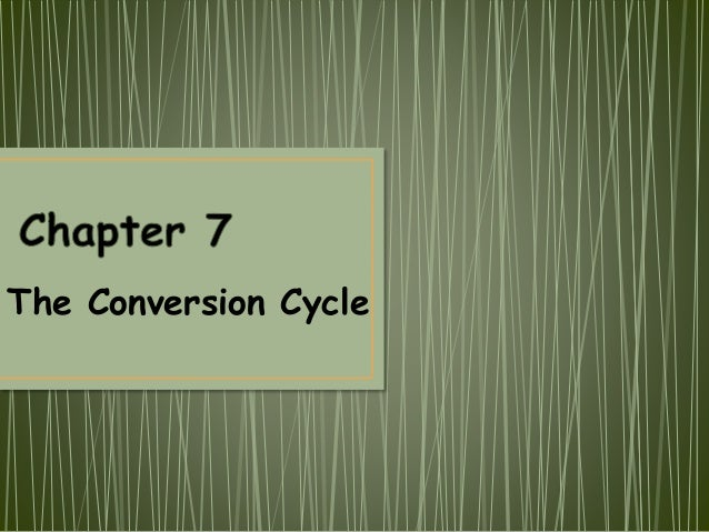 The Conversion Cycle