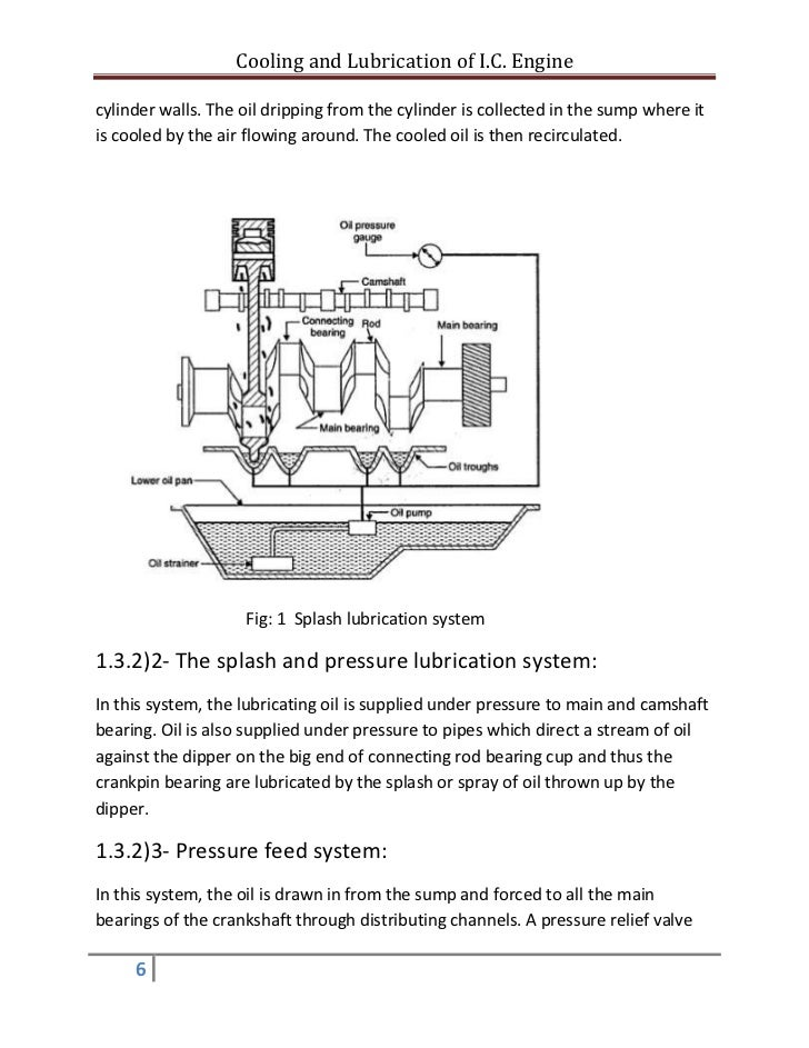Cooling And Lubrication Of Engine Report
