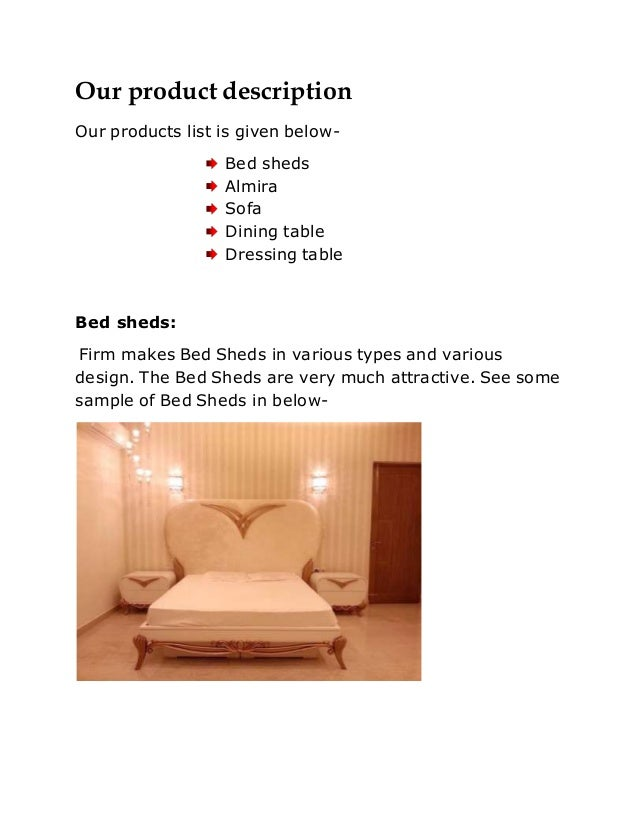 6 - Sample Furniture