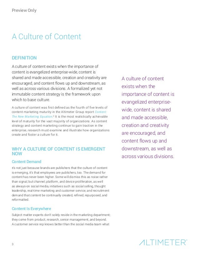 [Report] Culture of Content, by Altimeter Group Slide 3