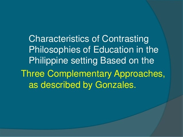 how to formulate a philosophy of education