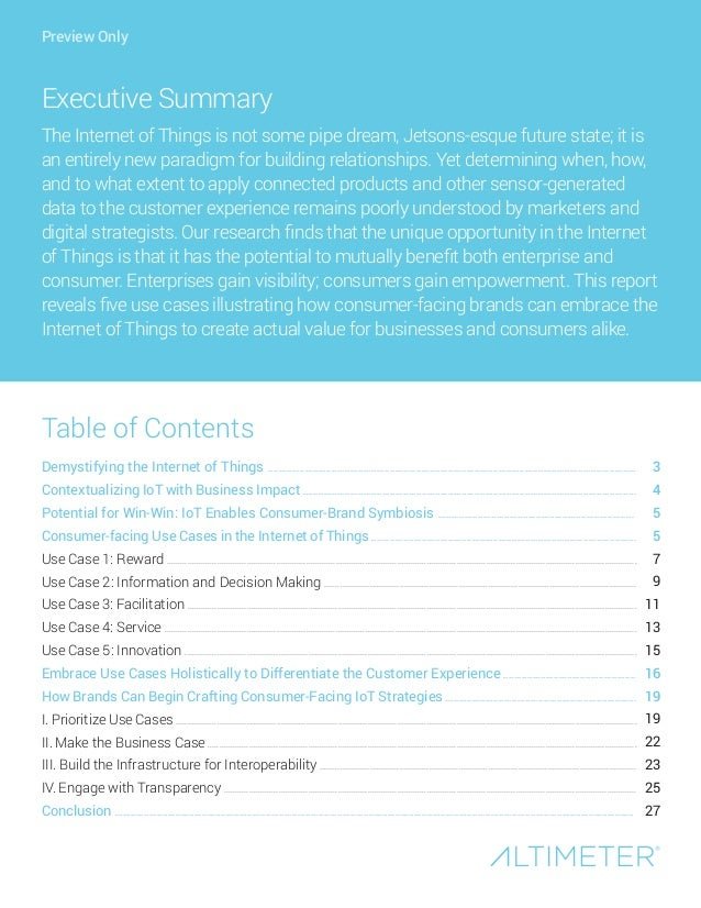 [Report] Customer Experience in the Internet of Things by Altimeter Group Slide 2