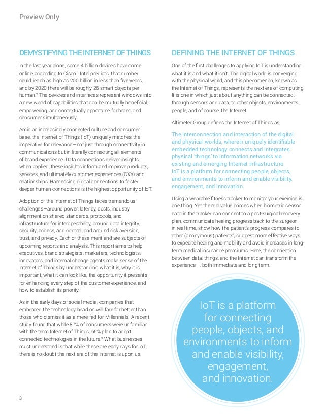 [Report] Customer Experience in the Internet of Things by Altimeter Group Slide 3