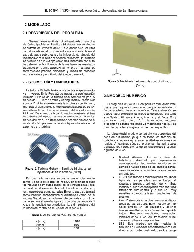 ELECTIVA II (CFD), Ingeniería Aeronáutica, Universidad de San Buena ventura. . 2 2 MODELADO 2.1 DESCRIPCIÓN DEL PROBLEMA S...