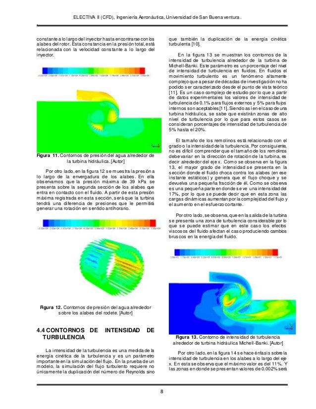 ELECTIVA II (CFD), Ingeniería Aeronáutica, Universidad de San Buena ventura. . 8 constante a lo largo del inyector hasta e...