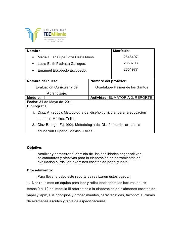Nombre:                                                 Matrícula:   •    María Guadalupe Loza Castellanos.               ...