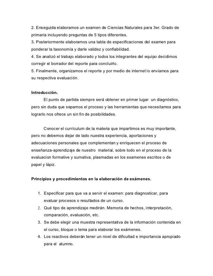 2. Enseguida elaboramos un examen de Ciencias Naturales para 3er. Grado deprimaria incluyendo preguntas de 5 tipos diferen...