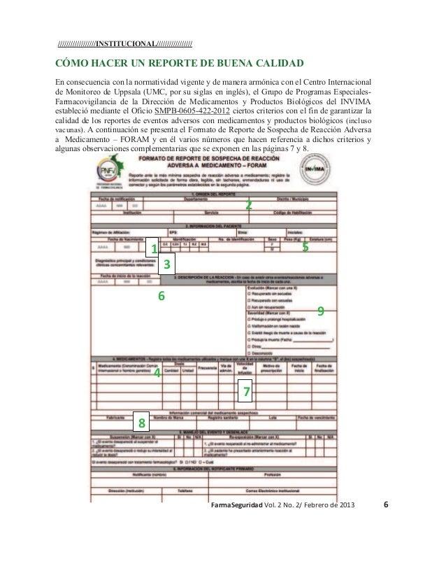 //////////////////INSTITUCIONAL/////////////////  CÓMO HACER UN REPORTE DE BUENA CALIDAD En consecuencia con la normativid...