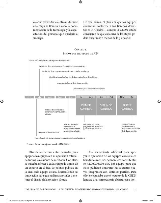 """impulsandolainnovación:laexperienciadeagentesdeinnovaciónnacionalenméxico 17 calarla"""" (extenderla a otras), durante esta e..."""
