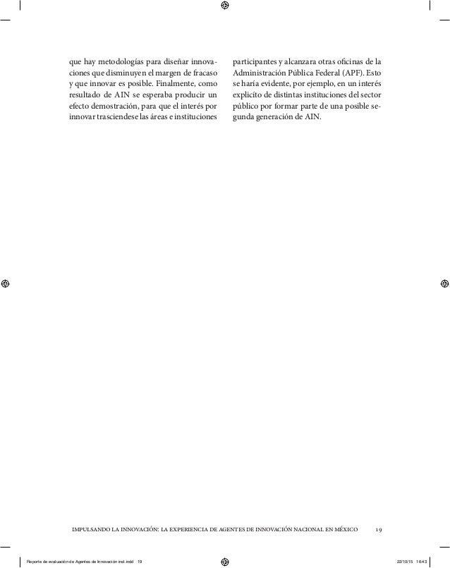 impulsandolainnovación:laexperienciadeagentesdeinnovaciónnacionalenméxico 19 que hay metodologías para diseñar innova- cio...