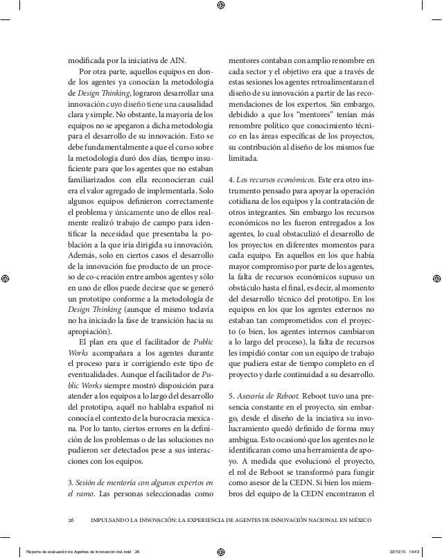 impulsandolainnovación:laexperienciadeagentesdeinnovaciónnacionalenméxico26 modificada por la iniciativa de AIN. Por otra ...
