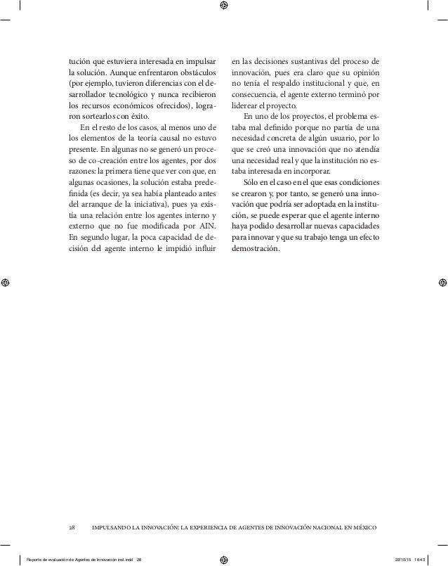 impulsandolainnovación:laexperienciadeagentesdeinnovaciónnacionalenméxico28 tución que estuviera interesada en impulsar la...