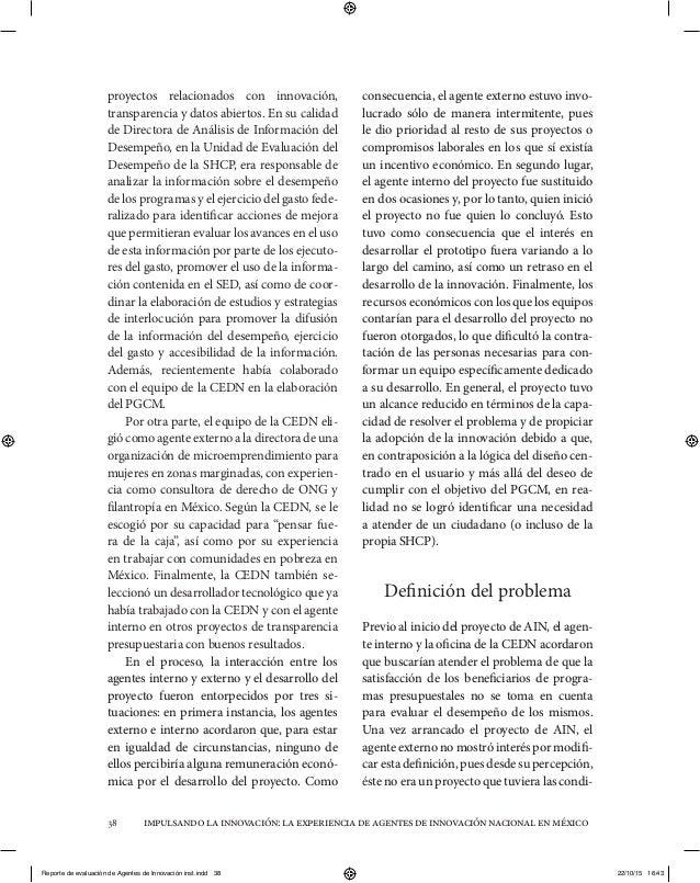 impulsandolainnovación:laexperienciadeagentesdeinnovaciónnacionalenméxico38 proyectos relacionados con innovación, transpa...