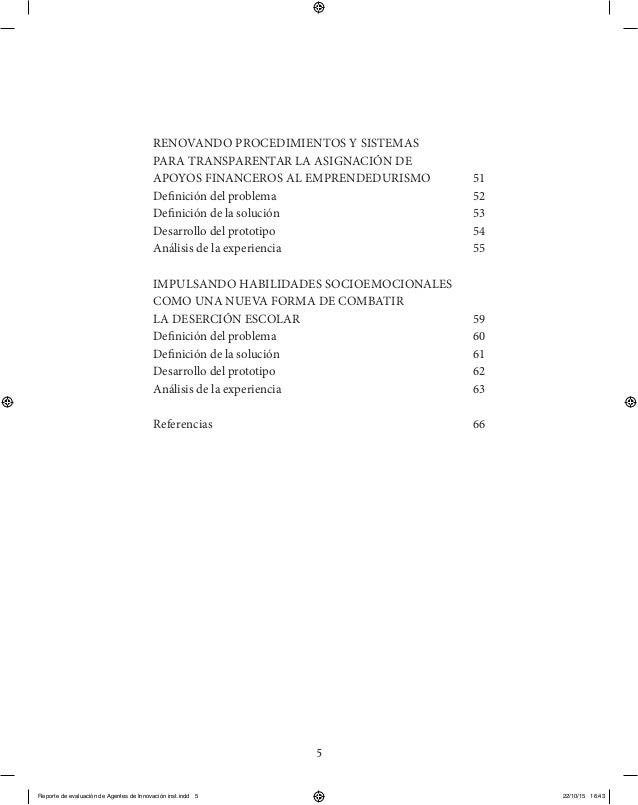 5 RENOVANDO PROCEDIMIENTOS Y SISTEMAS PARA TRANSPARENTAR LA ASIGNACIÓN DE APOYOS FINANCEROS AL EMPRENDEDURISMO  51 Defini...