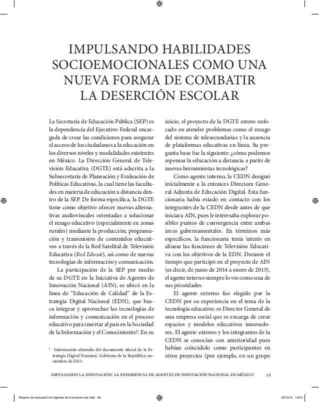 Impulsando la innovación: La experiencia de agentes de innovación nacional en México