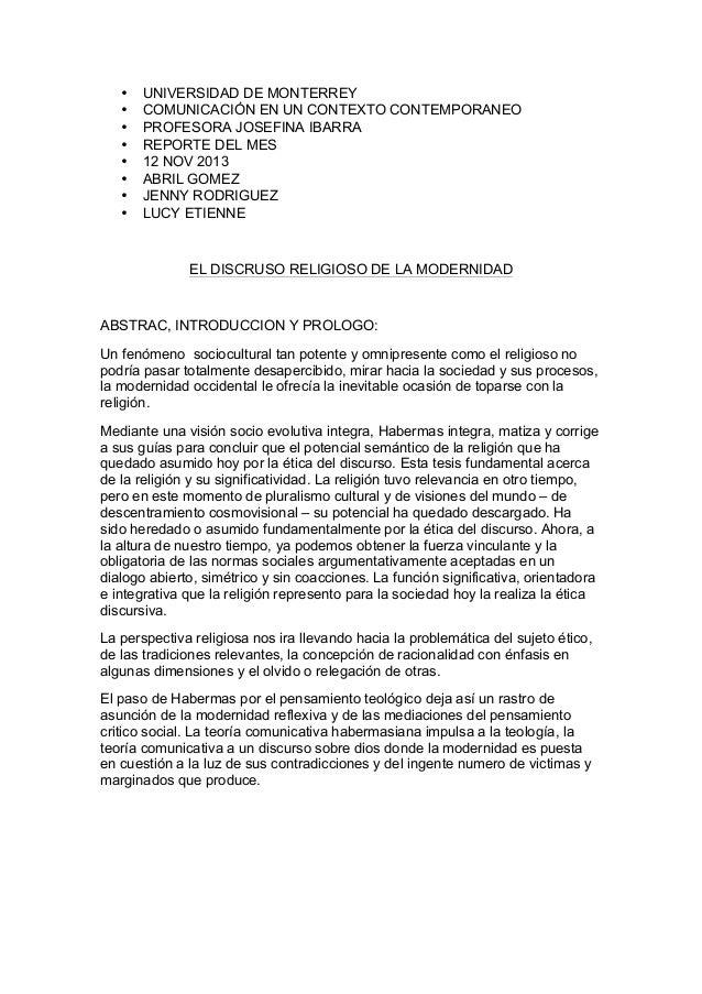 • • • • • • • •  UNIVERSIDAD DE MONTERREY COMUNICACIÓN EN UN CONTEXTO CONTEMPORANEO PROFESORA JOSEFINA IBARRA REPORTE DEL ...