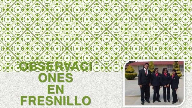 OBSERVACI ONES EN FRESNILLO