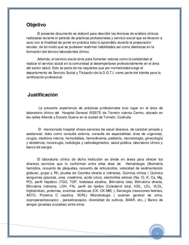 1ObjetivoEl presente documento se elaboró para describir las técnicas de análisis clínicosrealizadas durante el periodo de...
