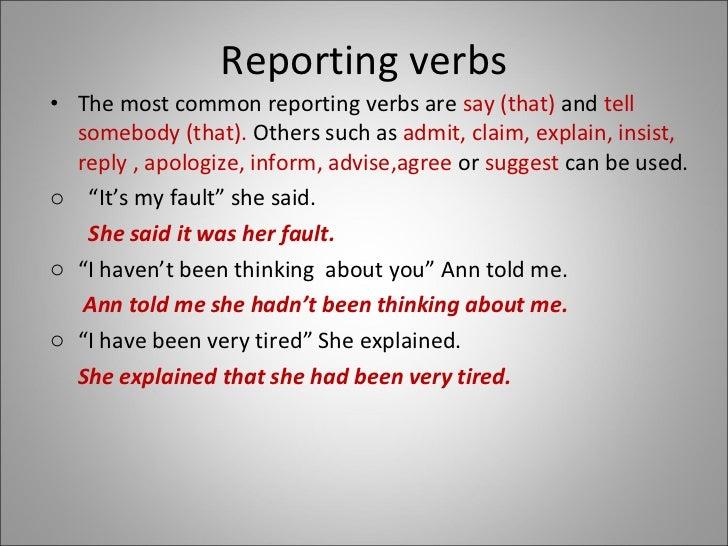 Reported speech Presentation Slide 3