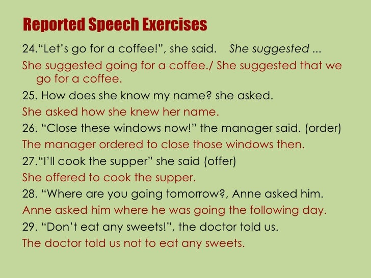 19. Reported Speech Exercises24.