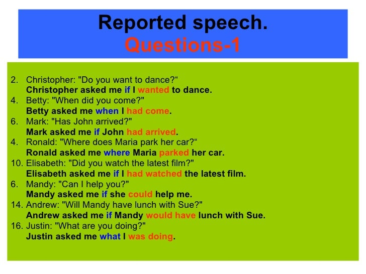 how to change direct to indirect speech