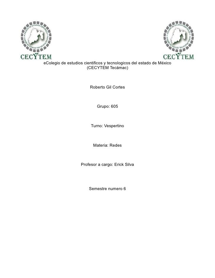 eColegio de estudios cientificos y tecnologicos del estado de México                       (CECYTEM Tecámac)              ...
